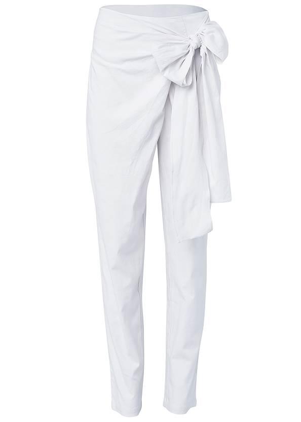 Alternate View Linen Wrap Front Pants