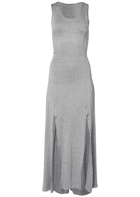 Alternate View High Slit Casual Maxi Dress