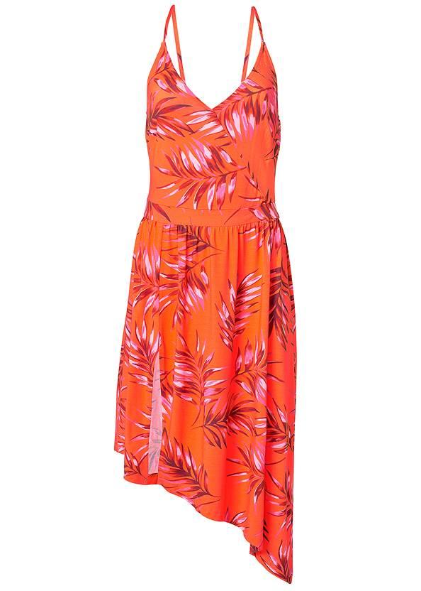 Alternate View Palm Leaf Asymmetrical Dress