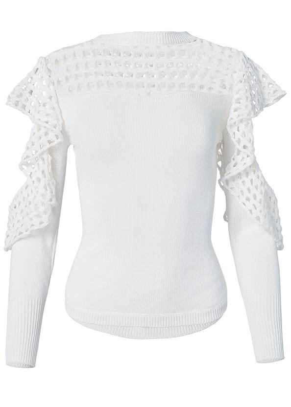 Cold-Shoulder Sweater,Triangle Hem Jeans