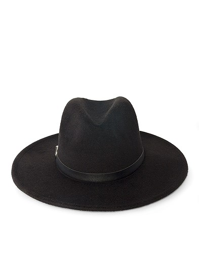 wide brim buckle hat