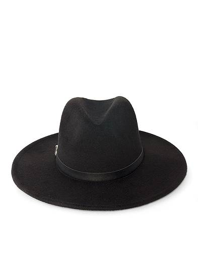 Wide Brim Buckle Hat