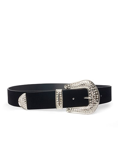 embellished buckle belt