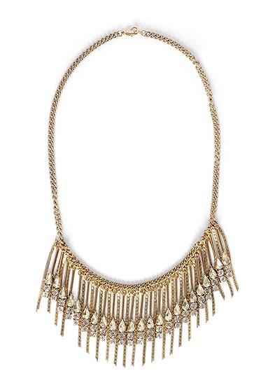 Rhinestone Fringe Necklace