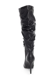 Back View Slouchy Mid-Calf Boot