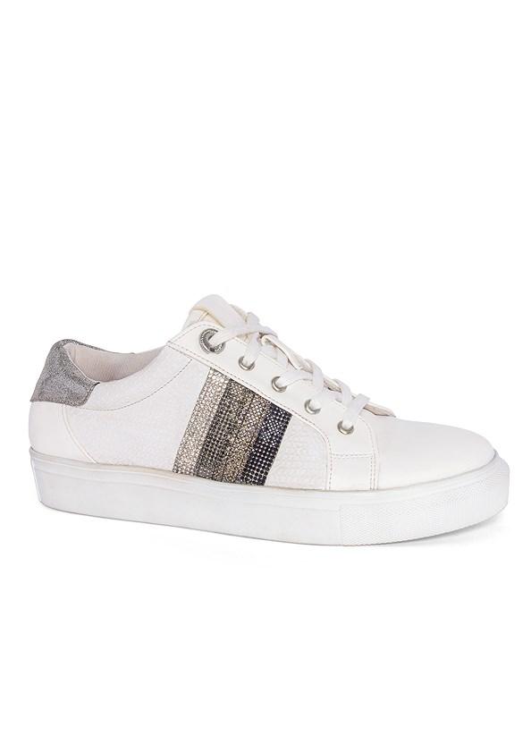 Embellished Striped Sneaker
