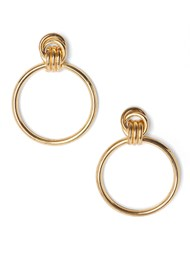 Flatshot  view Knot Hoop Earrings