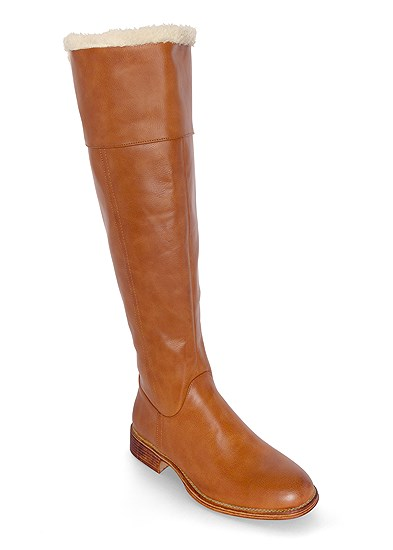Faux Shearling Detail Boot