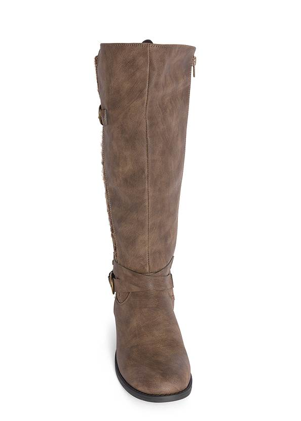 Front View Sweater Detail Boot