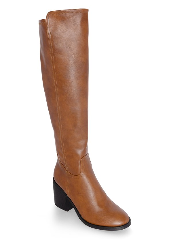 Knee High Block Heel Boot