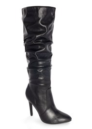 Front View Slouchy Mid-Calf Boot