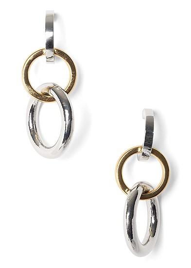 Mix Metal Link Earrings