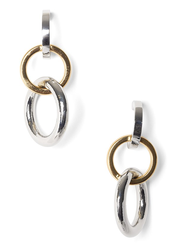 Mix Metal Link Earrings