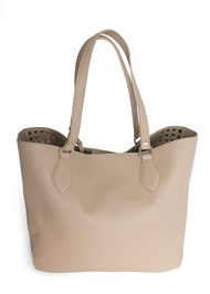 Flatshot back view Stud Detail Tote Bag