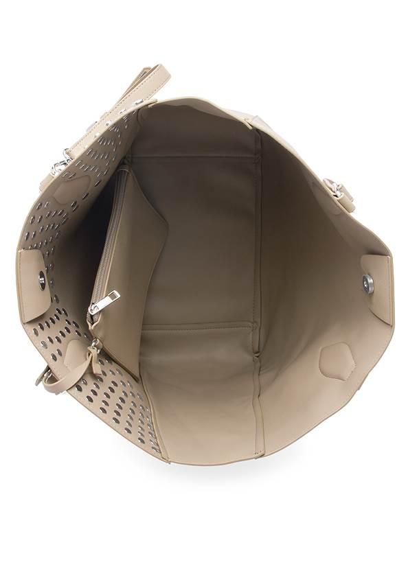 Flatshot open view Stud Detail Tote Bag