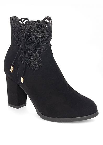 lace detail booties