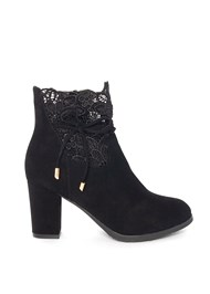 Shoe series side view Lace Detail Bootie