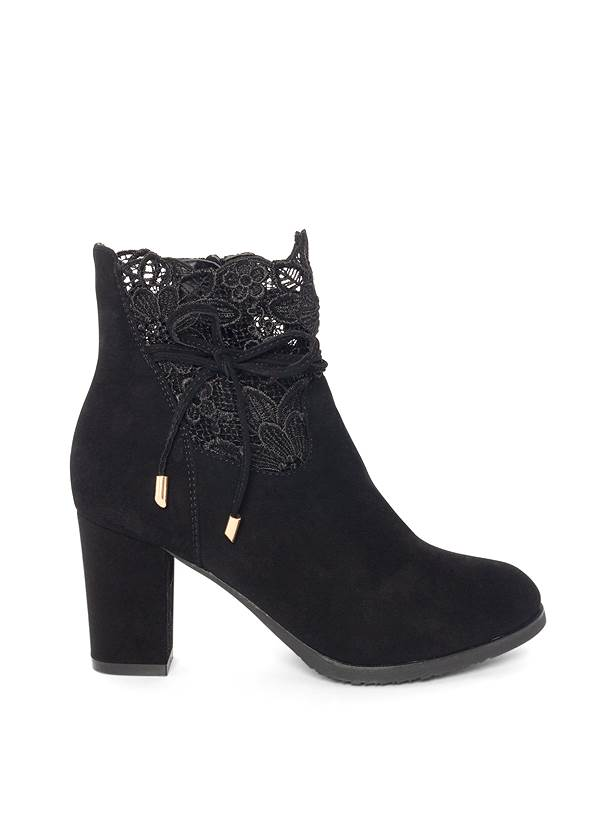 Shoe series side view Lace Detail Booties