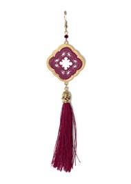 Detail  view Medallion Tassel Earring