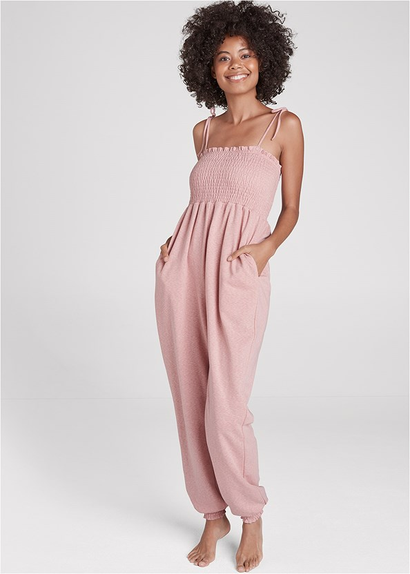 Smocked Lounge Jumpsuit