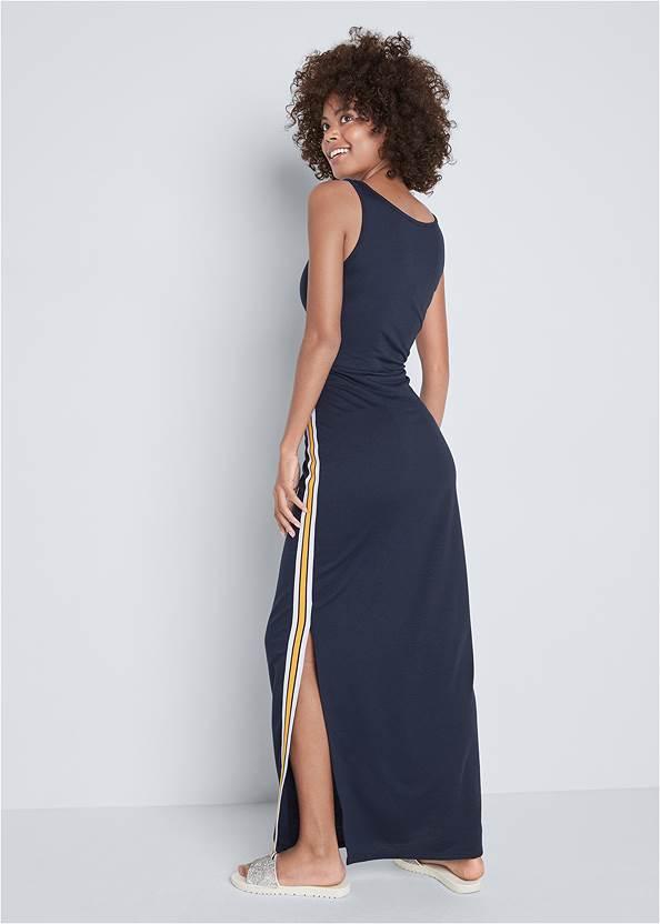 Full back view Side Stripe Lounge Maxi Dress