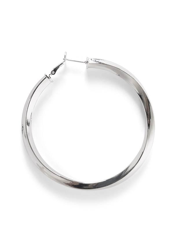 Alternate View Twist Hoop Earrings