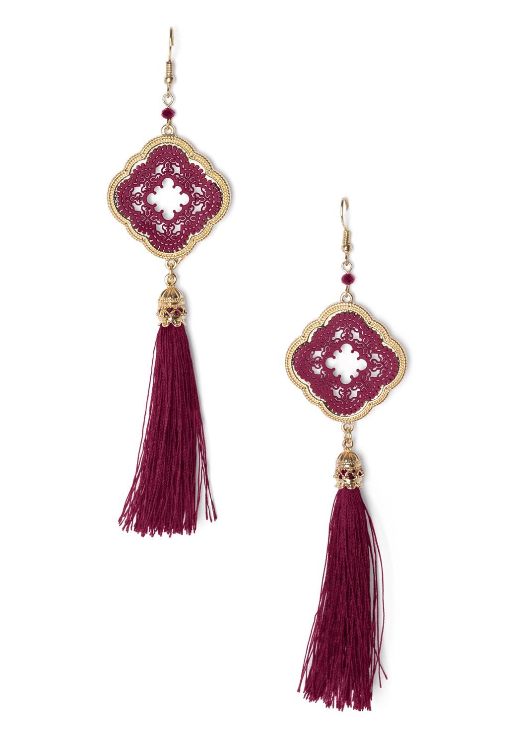 Medallion Tassel Earring