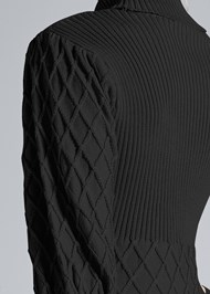 Alternate View Puff Detail Sweater Dress
