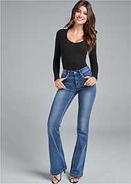 Front View Casual Bootcut Jeans