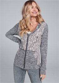 Alternate View Heather Lace Lounge Jacket