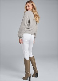 Alternate View Pearl Detail Sweater