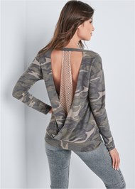 Alternate View Camo Open Back Lounge Top