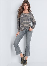 Front View Camo Open Back Lounge Top