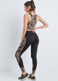 Full back view Mesh Camo Print Active Set