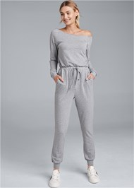 Front View Easy Lounge Jumpsuit