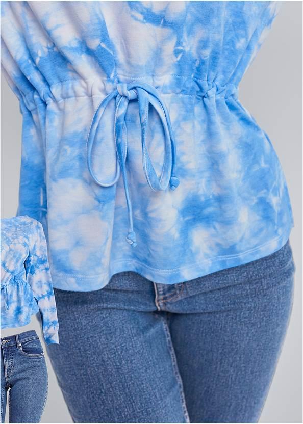 Alternate View Mineral Wash Off Shoulder Sweatshirt