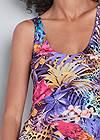 Detail front view Mixed Print Maxi Dress