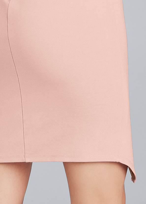 Detail back view Faux Wrap Mini Dress