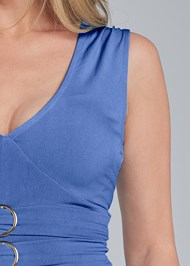 Alternate View Ring Detail Peplum Top