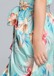 Detail back view Floral Print Wrap Dress