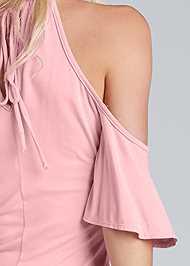 Detail back view Cold Shoulder Keyhole Top