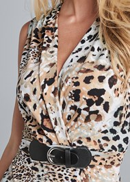 Alternate View Animal Print Belted Top