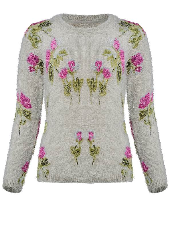 Alternate View Floral Cozy Sweater