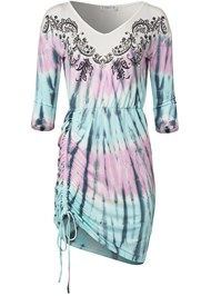Ghost with background  view Paisley Print Tie Dye Lounge Dress