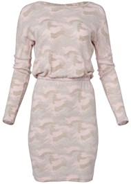 Alternate View Cozy Hacci Camo Print Dress