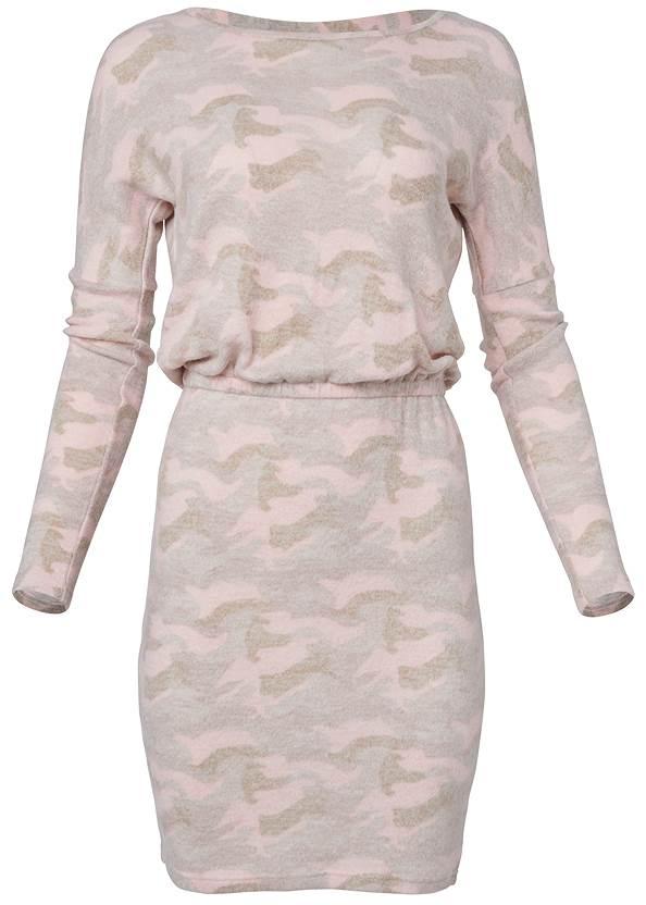 Alternate View Cozy Hacci Camo Print Dress