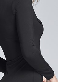 Alternate View Button Detail Midi Dress