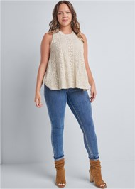 Alternate View Sleeveless Lace Top