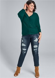 Alternate View Casual Ruched Top