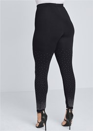 Back View Rhinestone Detail Leggings